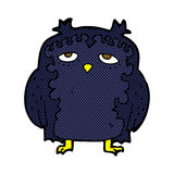 comic cartoon wise old owl Stock Photo