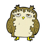 comic cartoon wise old owl Stock Images