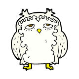 comic cartoon wise old owl Royalty Free Stock Photo