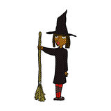 comic cartoon witch Royalty Free Stock Images
