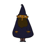 Comic cartoon wizard Royalty Free Stock Images