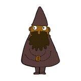 Comic cartoon wizard Royalty Free Stock Photography