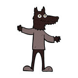 Comic cartoon wolf man Royalty Free Stock Image