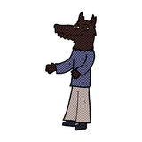 Comic cartoon wolf man Royalty Free Stock Photos