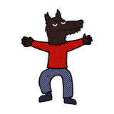 Comic cartoon wolf man Stock Image