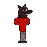 Comic cartoon wolf man Royalty Free Stock Photography