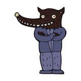 Comic cartoon wolf man Stock Photography