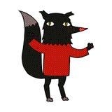 comic cartoon wolf Stock Photo