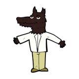 comic cartoon wolf Stock Images