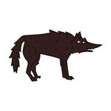 comic cartoon wolf Royalty Free Stock Images