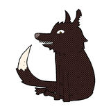 comic cartoon wolf sitting Royalty Free Stock Image