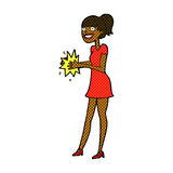 Comic cartoon woman clapping hands Royalty Free Stock Photo