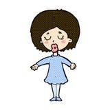 Comic cartoon woman in dress Royalty Free Stock Image