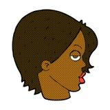 comic cartoon woman raising eyebrow Stock Image