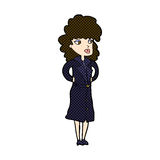 Comic cartoon woman in trench coat Royalty Free Stock Images