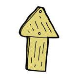 Comic cartoon wood arrow symbol Stock Image
