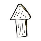 Comic cartoon wood arrow symbol Royalty Free Stock Photography