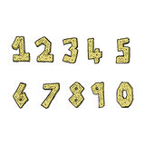 Comic cartoon wooden numbers Stock Photography