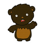 Comic cartoon worried black bear Royalty Free Stock Images