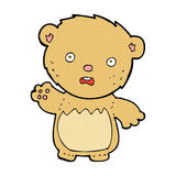 Comic cartoon worried teddy bear. Retro comic book style cartoon worried teddy bear Royalty Free Stock Image