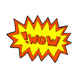 Comic cartoon wow explosion Stock Images