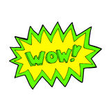 Comic cartoon wow explosion Royalty Free Stock Images