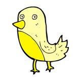 Comic cartoon yellow bird. Retro comic book style cartoon yellow bird Royalty Free Stock Images