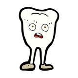 Comic cartoon yellowing  tooth Stock Photo