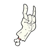 comic cartoon zombie hand making rock symbol Royalty Free Stock Image