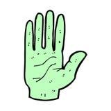 Comic cartoon zombie hand Royalty Free Stock Image