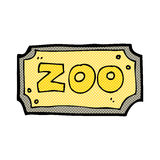 comic cartoon zoo sign Stock Images