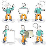Comic Character. Vector image - you can simply edit colors and shapes royalty free illustration