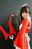 Comic character, Asian cosplayer Royalty Free Stock Photos