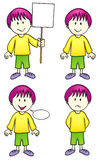 Comic character - boy (Vector) Royalty Free Stock Photos