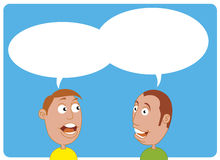 Comic characters talking. Vector illustration Two comic characters talking Royalty Free Illustration