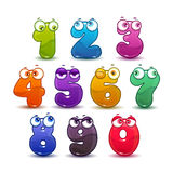Comic childish colorful numbers set. Stock Photo
