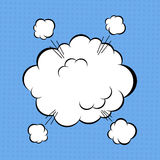 Comic cloud. Cartoon comic book explosion cloud. Vector illustration Royalty Free Stock Images