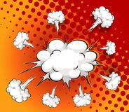 Comic cloud Stock Image