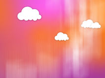 Comic Clouds Blur Fantasy Background Stock Photo