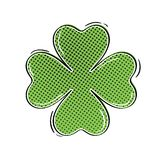 Comic clover illustration Stock Images
