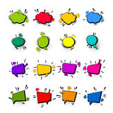 Comic collection colored cloud pop art vector Royalty Free Stock Photo