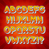 Comic Colorful Alphabet. For your cool design Royalty Free Stock Photo