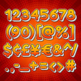 Comic Colorful Numbers Stock Images