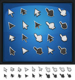 Comic Computer Cursors, Pointers And Arrows Icons Stock Photos