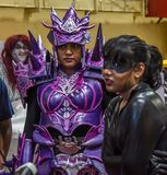 Comic Con Bangalore. Event 2018. Cosplay artist as a video game character royalty free stock photography