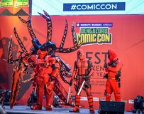 Comic Con Bangalore. Event 2018. Cosplayers getting judged during the Cosplay contest royalty free stock photography