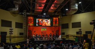 Comic Con Bangalore. Event 2018. Special tribute to Stan Lee by international guest stock photography