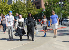 The Comic Con convention in Utah illustrates the continuing popularity of these conventions. SALT LAKE CITY – SEPTEMBER 25, 2015. The Comic Con convention in Stock Photos