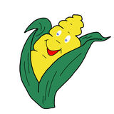 Comic corn hand-drawn Stock Image