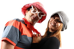 Comic couple Stock Photo
